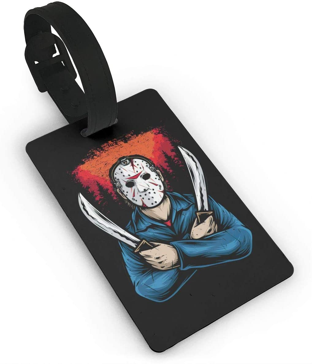 Jason Voorhees Luggage Tag, Used To Prevent Luggage From Being Lost And Messy, And Equipped With A Detachable Wrist Strap For Easy Hanging