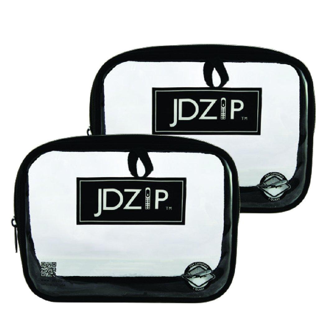 LollyZip Men's Quart Size Clear PVC Bag, TSA Compliant, Set of 2 (JD1QTB)
