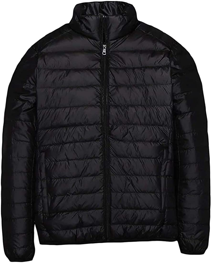 Men Baggy Light Ultra Full-Zip Fit Weight Plus Size Duck Down Jackets