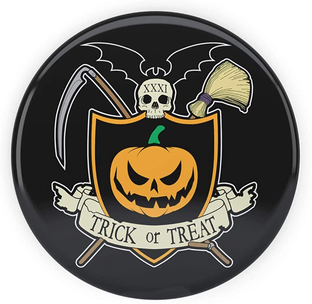 Tenacitee Halloween Crest Pinback Button