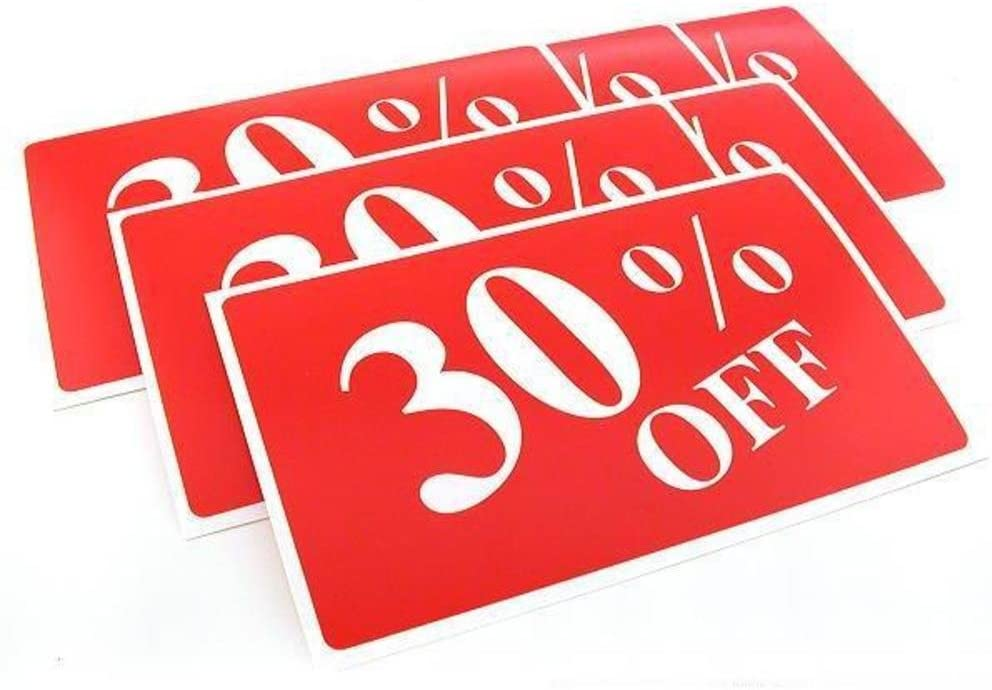 FindingKing 6 Display Signs Showcase Window Sale Message
