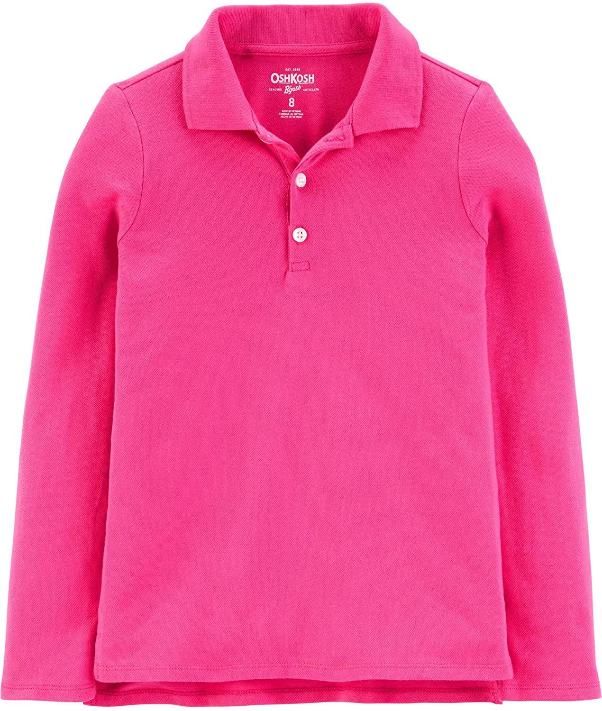 OshKosh B'Gosh Girls' Long Sleeve Uniform Polo Shirt