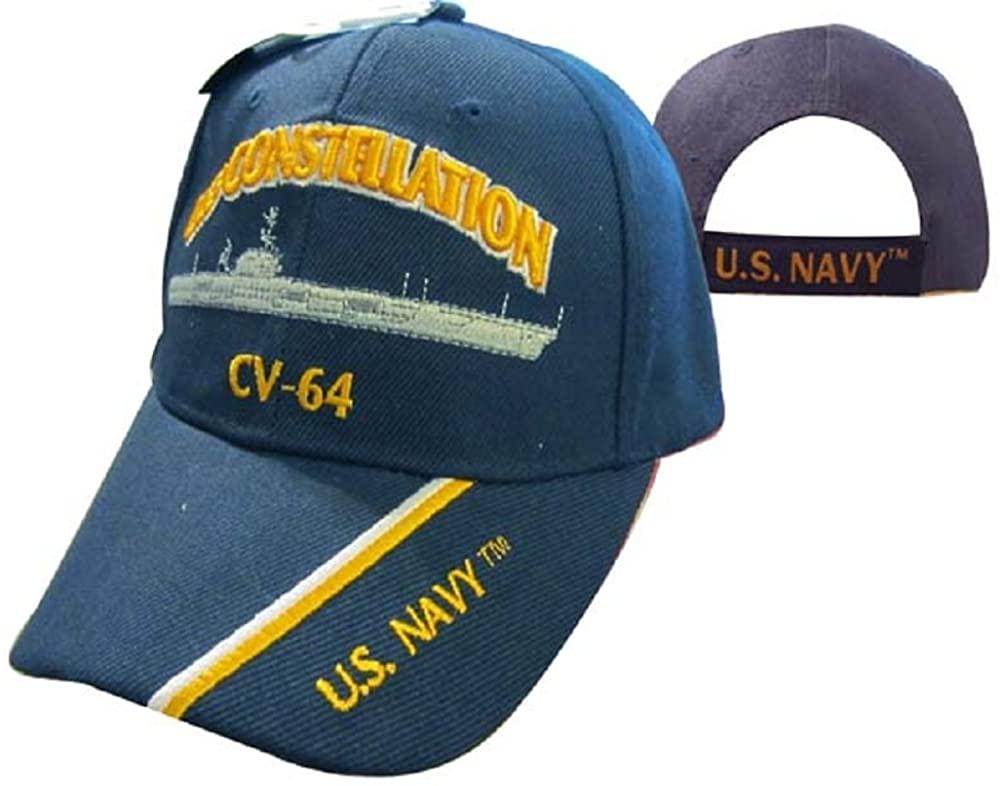 AES U.S. Navy USS Constellation CV-64 Battleship Embroidered Cap Hat 550M