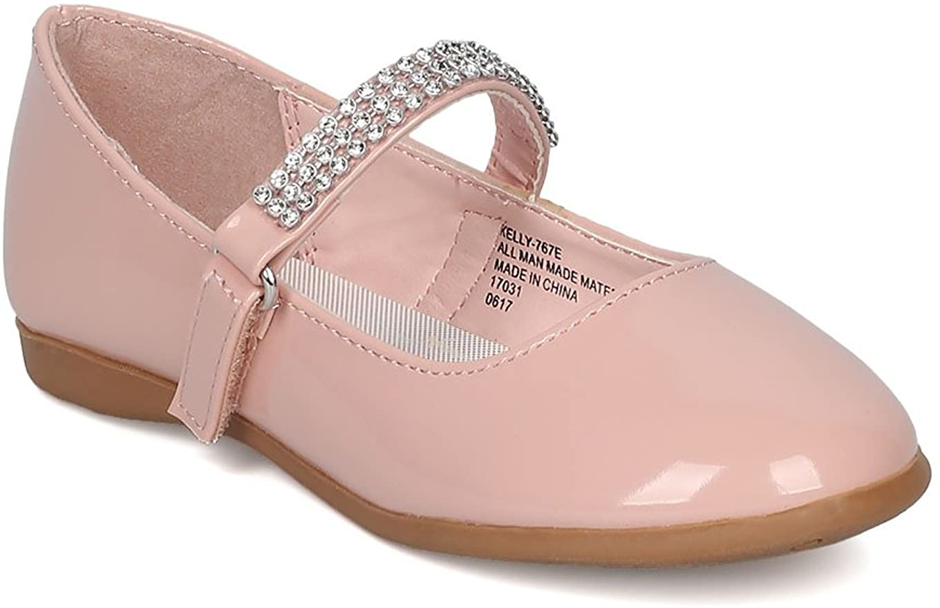 Little Angel CA03 Patent Flat Mary Jane Ballerina Blush Toddler 9