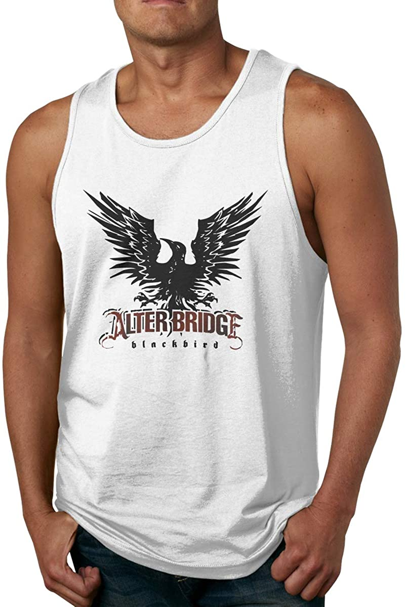 ZiAntg Alter Bridge Blackbird Men Tank Tops Summer Sleeveless Graphic Vest Shirts White
