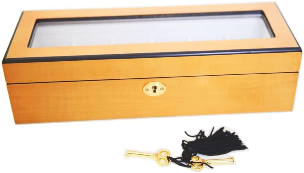 Oineh Oak Wood Watch Box Display Case