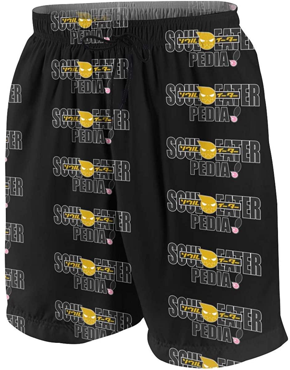 Teen Beach Shorts Boy Swim Trunks Soul Eater Swimwear Boardshorts Pants Bath
