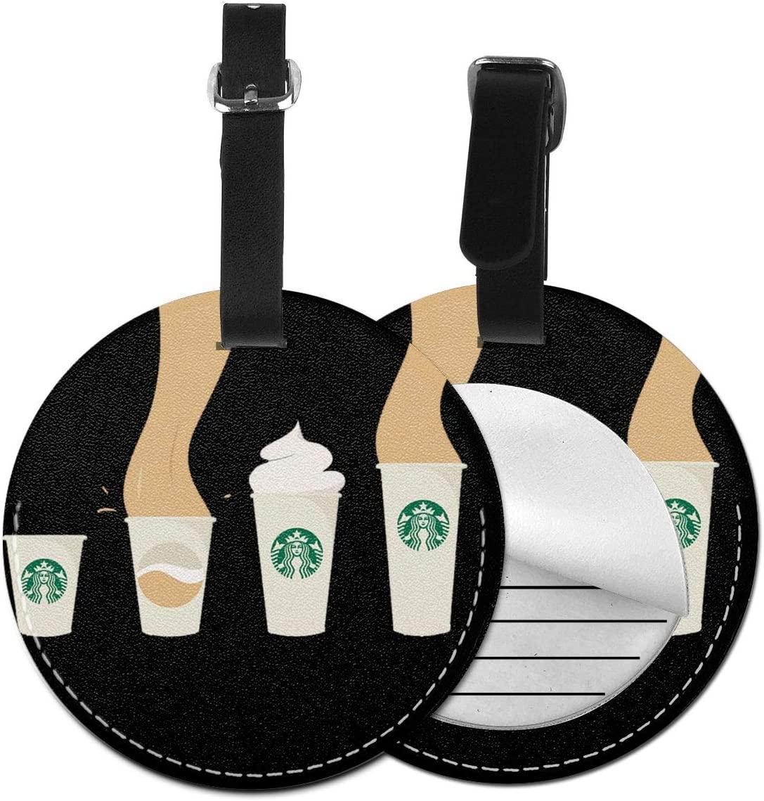 N/C Star-Bucks Cartoon Artificial Leather Round Luggage Tag