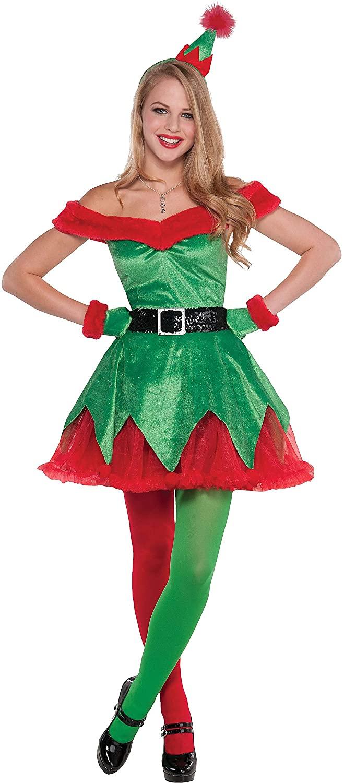 Amscan Christmas Costume, M, Green