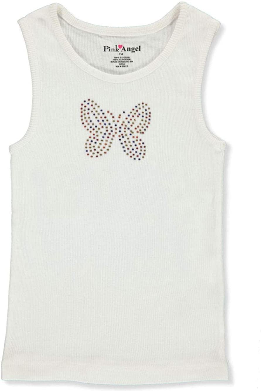 Pink Angel Girls' Bejeweled Tank Top