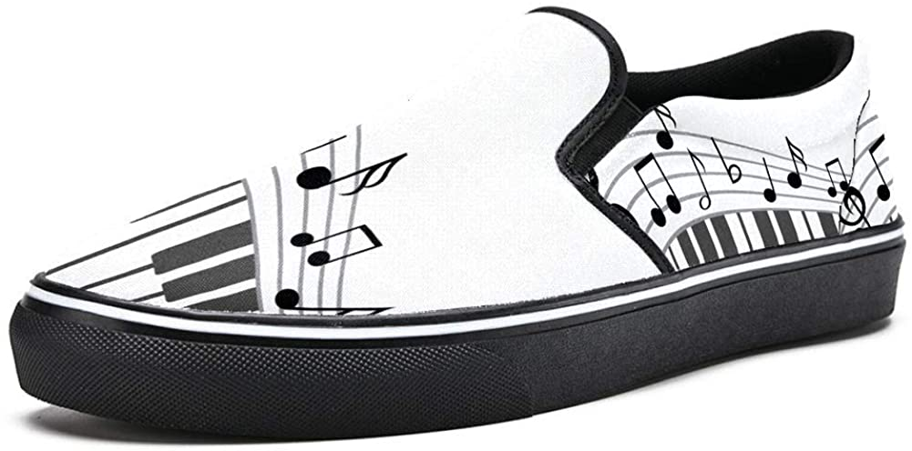 imobaby Slip on Loafer Shoes for Men Boys Music Notess Piano Keyboard Fashion Canvas Flat Boat Shoe