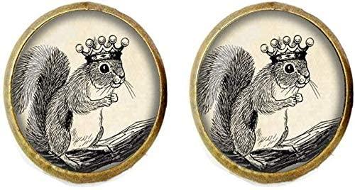 Squirrel Earring Art Jewelry Animal Royal Squirrel Jewelry Vintage Charm Jewelry Glass Photo Jewelry