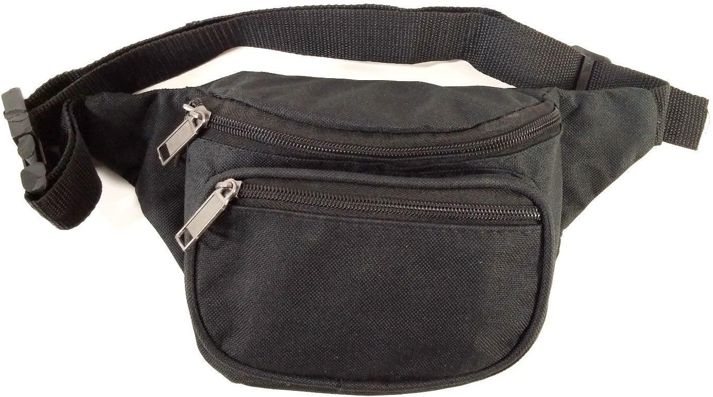 MAIKO New Black Waist Fanny Pack Belt Bag Pouch Travel Sport Hip Purse Mens Womens