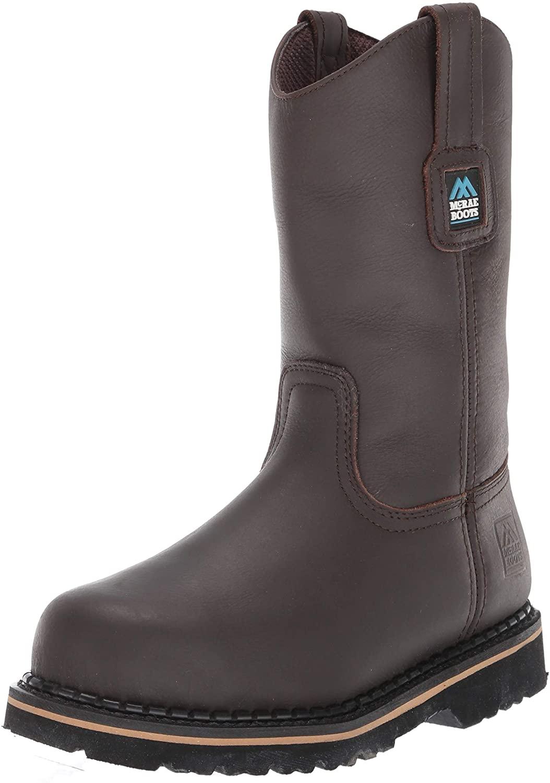 MCRAE Men's Mid Calf Boot, Brown/Brown3, 6 W US