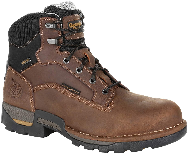 Georgia Boot Men's Eagle One Steel Toe Waterproof Work Boot-GB00313 (M12) Brown