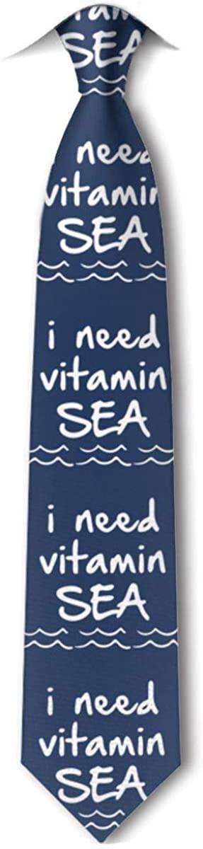 I Need Vitamin Sea Men Necktie Leisure Ties