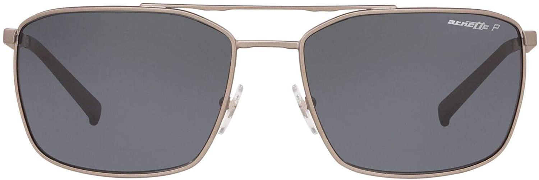 ARNETTE Men's An3080 Maboneng Rectangular Metal Sunglasses