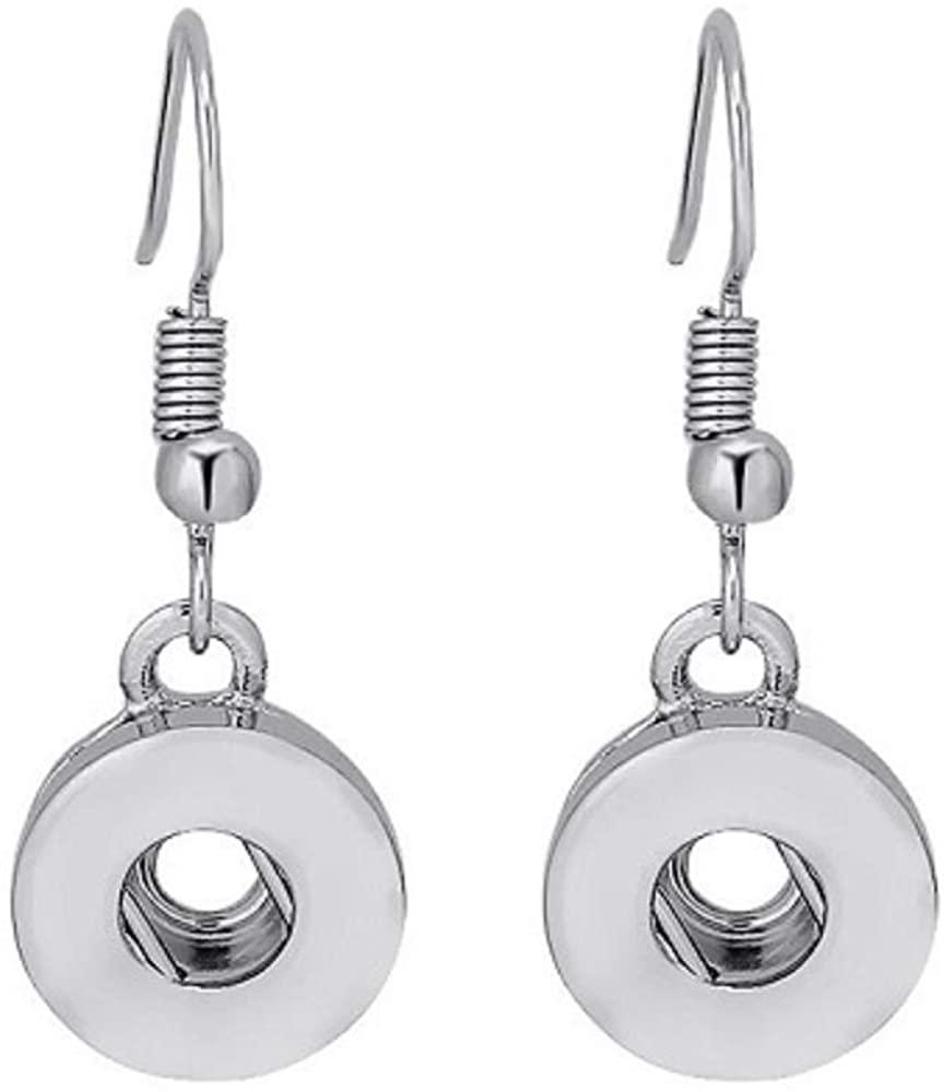 Pizazz Studios Mini 12mm Snap Charm Dangle Earrings
