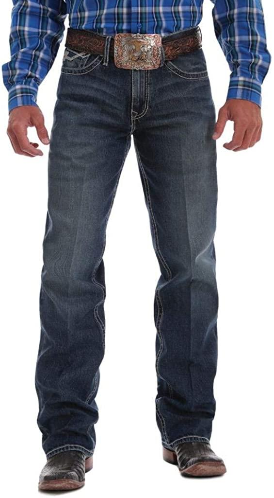Cinch Western Denim Jeans Mens Grant 30 x 36 Dark Wash MB69637001