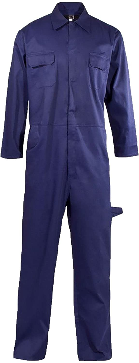 Rimi Hanger Mens Long Sleeve Popper Front Coverall Overall Adults Work Wear Mechanic Boilersuit