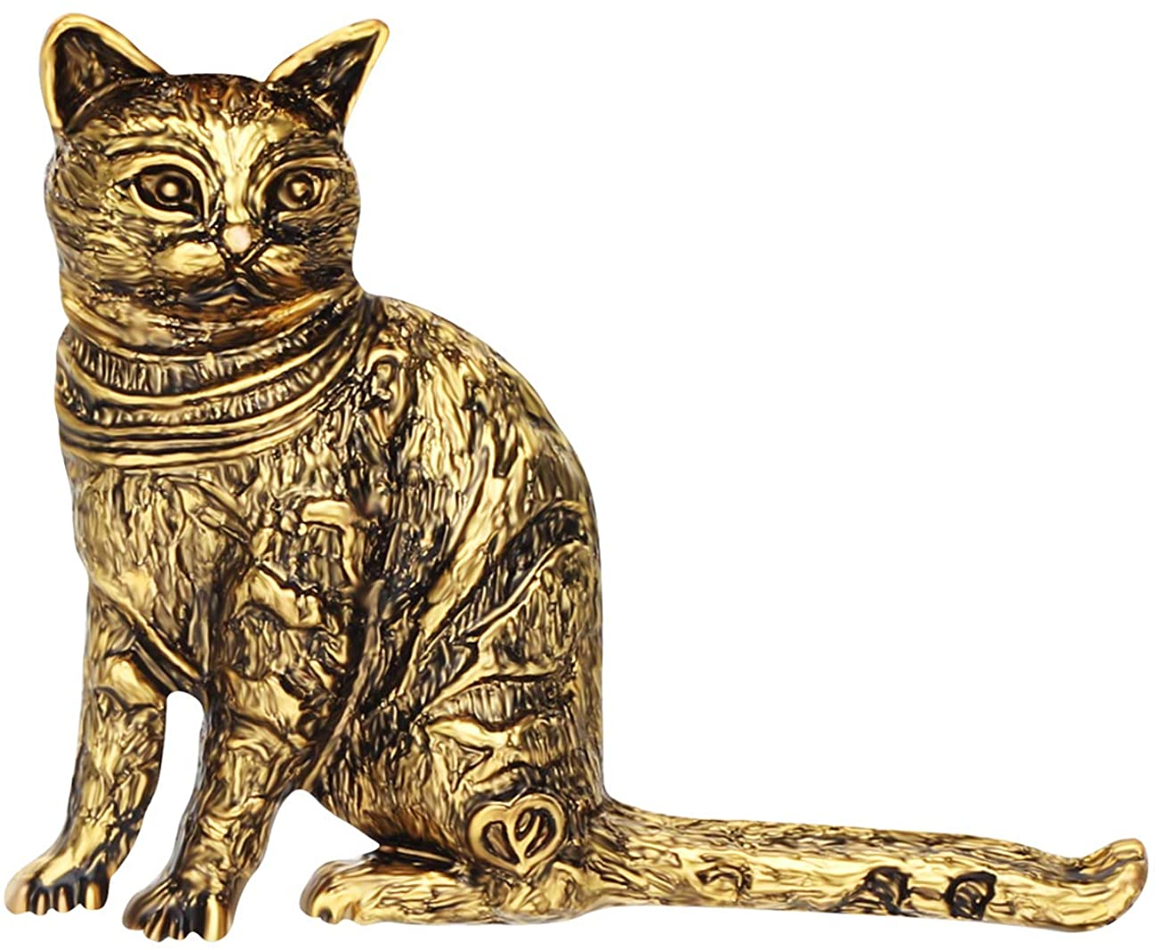 NEWEI Plated Alloy Antique Gold Sliver Sitting Cat Kitten Brooch Pin for Women Girl Scarf Pet Jewlery Charm Party Gift