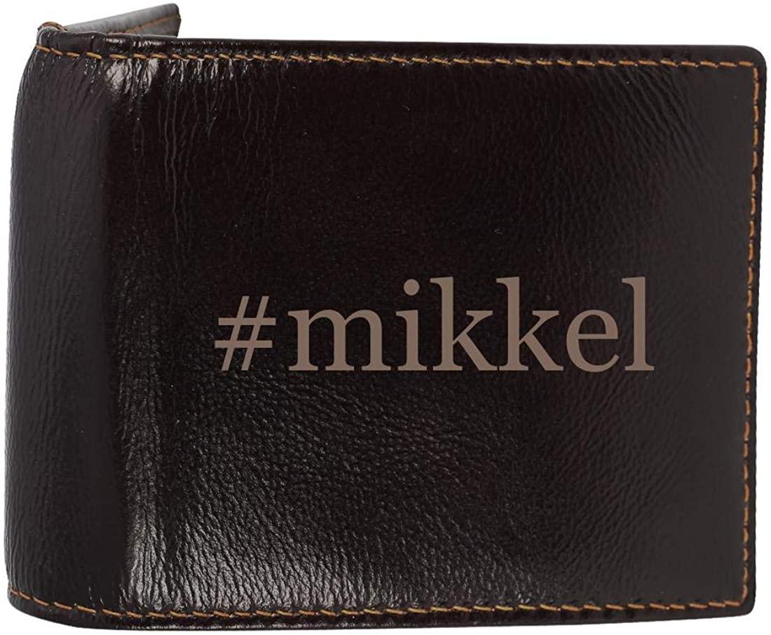 #mikkel - Genuine Engraved Hashtag Soft Cowhide Bifold Leather Wallet