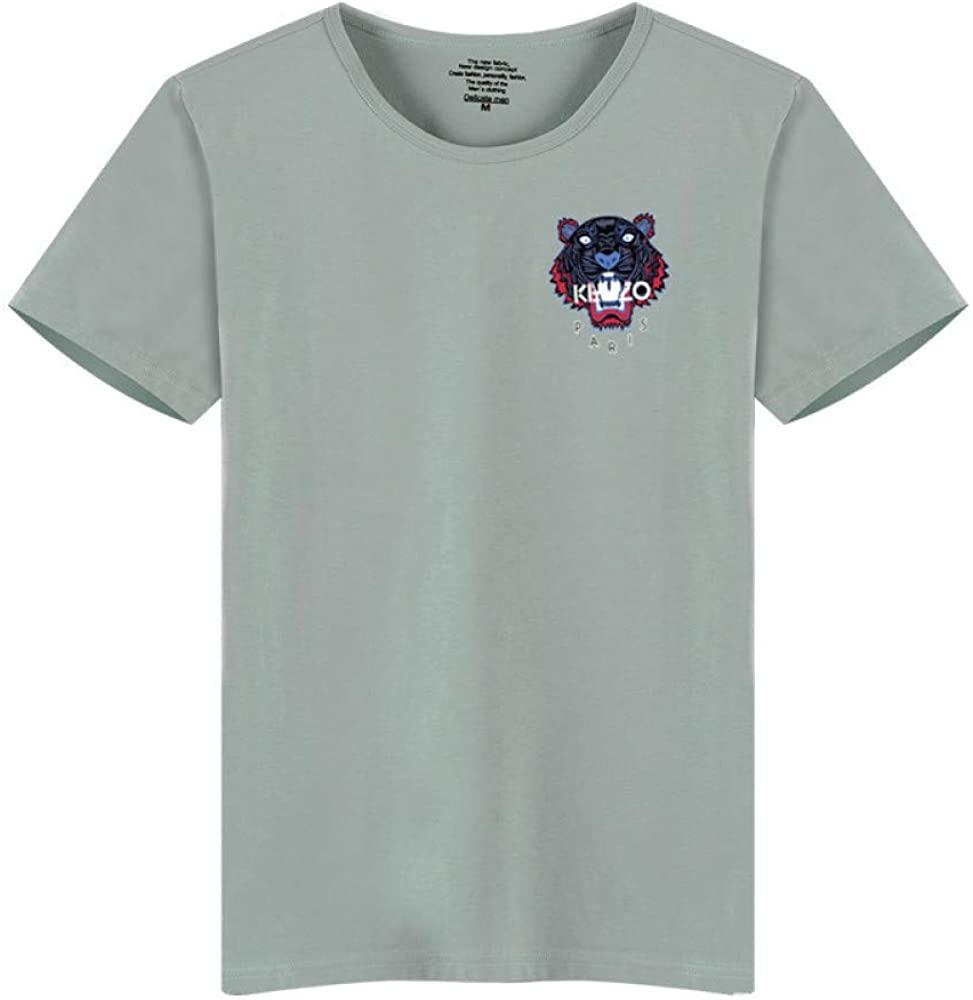 HOSD Printed Round Neck Short Sleeve T-Shirt Bottoming Shirt Short Sleeve Green