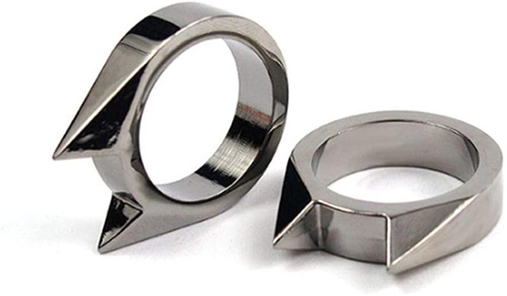 Socialfloats Cat Ear Shape Ring Pendant for Girls Women (Black)