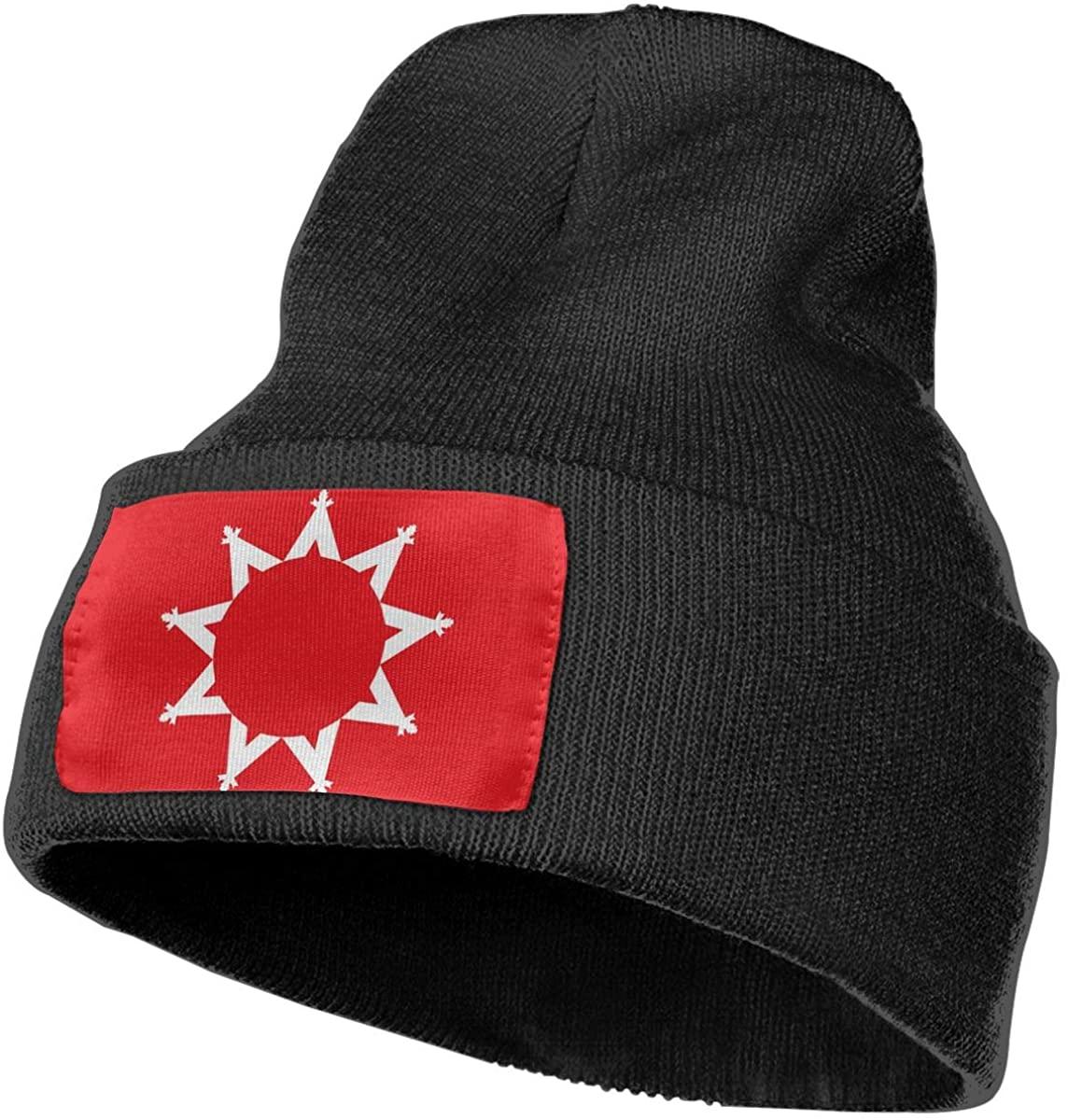 Oglala Sioux Tribe Flag Unisex Cuffed Plain Skull Knit Hat Cap Winter Beanie Toboggan Cap