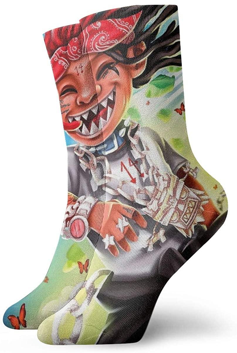 Trippie-Rap 1400 Redd Life'S A Trip Magic Gathering Socks, High Ankle Socks Halloween Socks