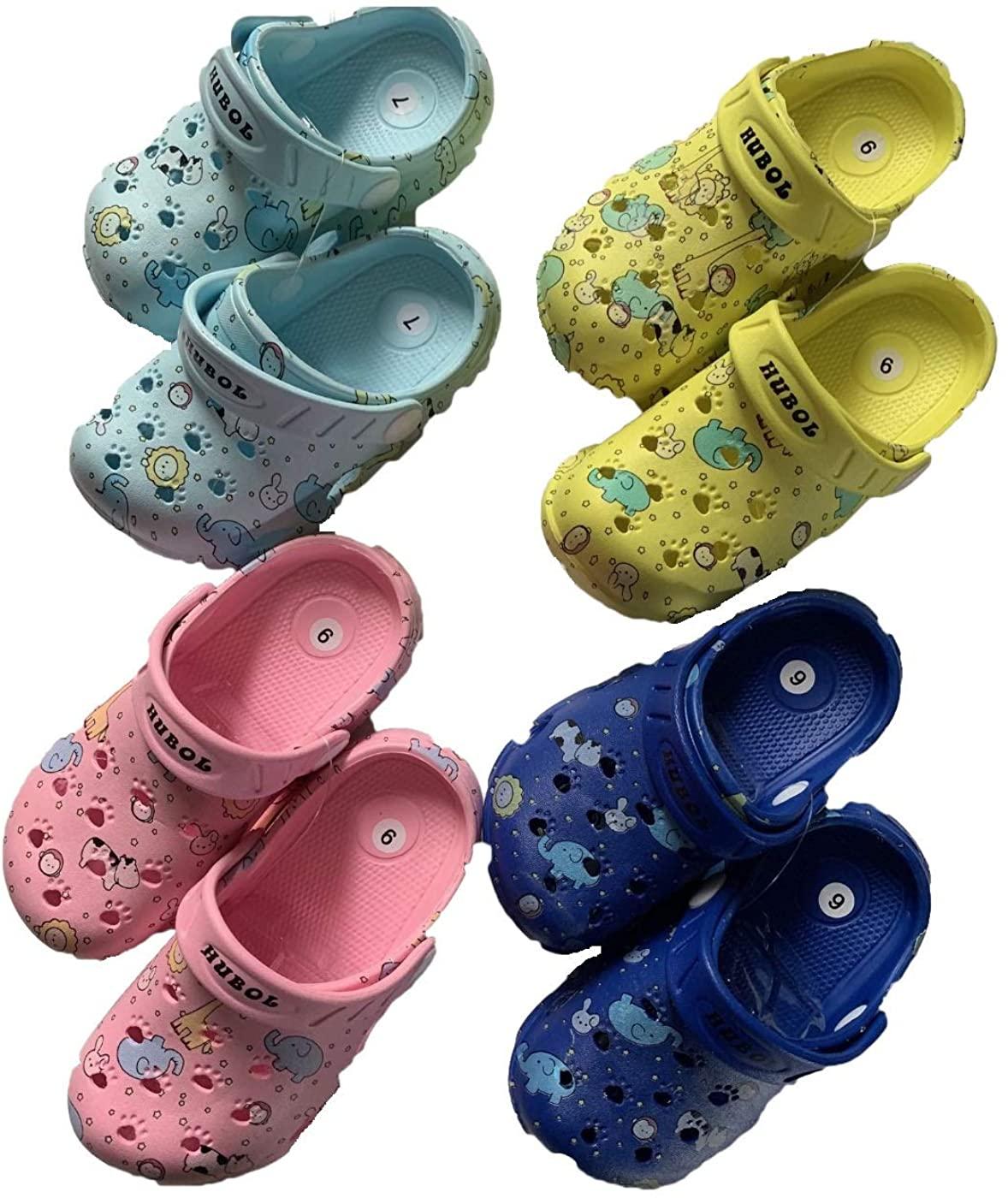 New Toddler Girl boy Animation Rabbit Elephant Pink Color Clogs Slipper Sandals