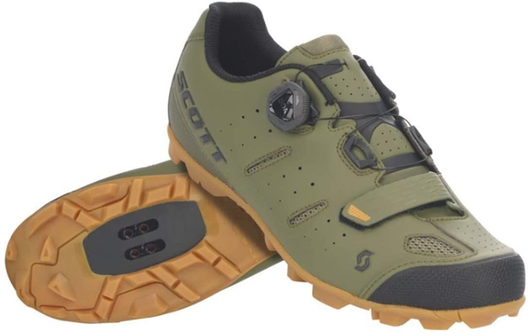 SCOTT MTB Elite Boa Cycling Shoe - Men's Green Moss/Black, 48.0