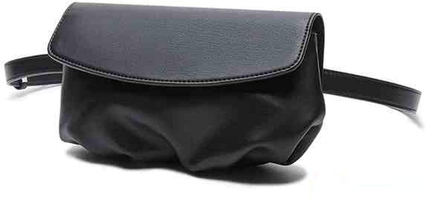 Dboar Fanny pack for Women Dumpling waist Belt bag Black Crossbody Shoulder bag cute fashion (Black)