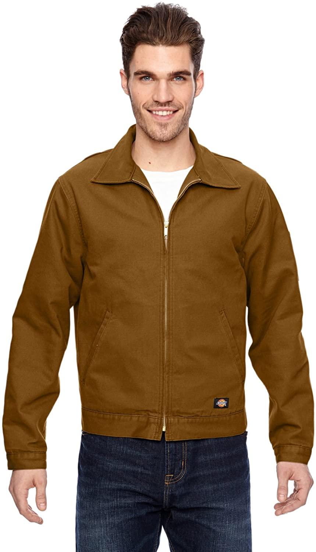Dickies Occupational Workwear LJ539RBDXL LJ539 Canvas Duck Jacket, Size XL, Fabric, XL, Rinsed Brown Duck