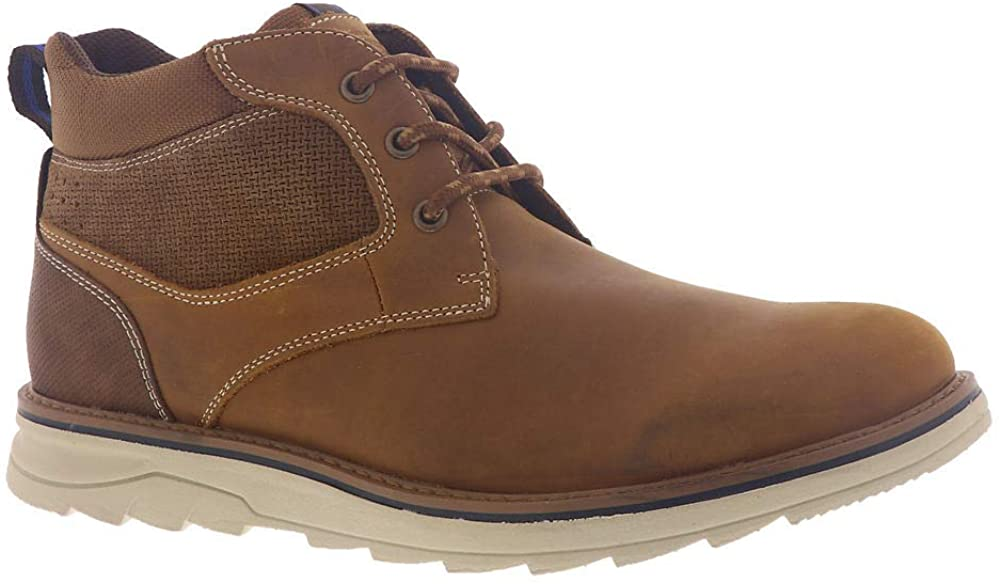 Nunn Bush Luxor Plain Toe Chukka Boot with Comfort Gel and Memory Foam