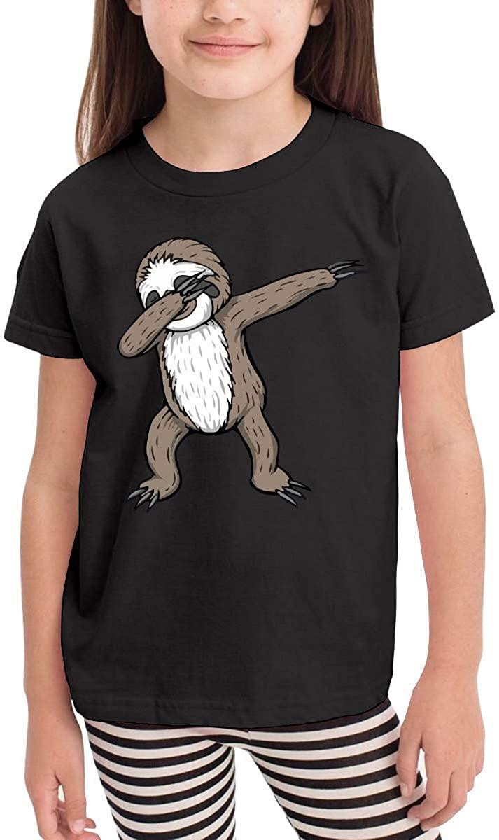 GongYe Sloth Dabbing Cute Kids Short Sleeve Shirt Tee Jersey