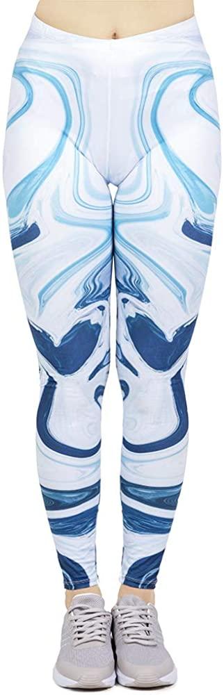 PennyStone Womens Fashion Printing Workout Slim Fitness Punk Elasticity Stretch Leggings Pants