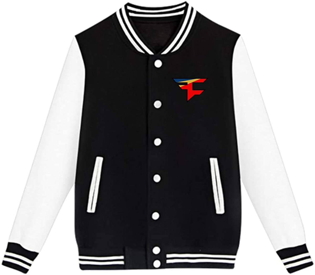Faze Clan Team Logo Unisex Youth Boys and Girls Sweatshirt Baseball Uniform Jacket Sport Coat