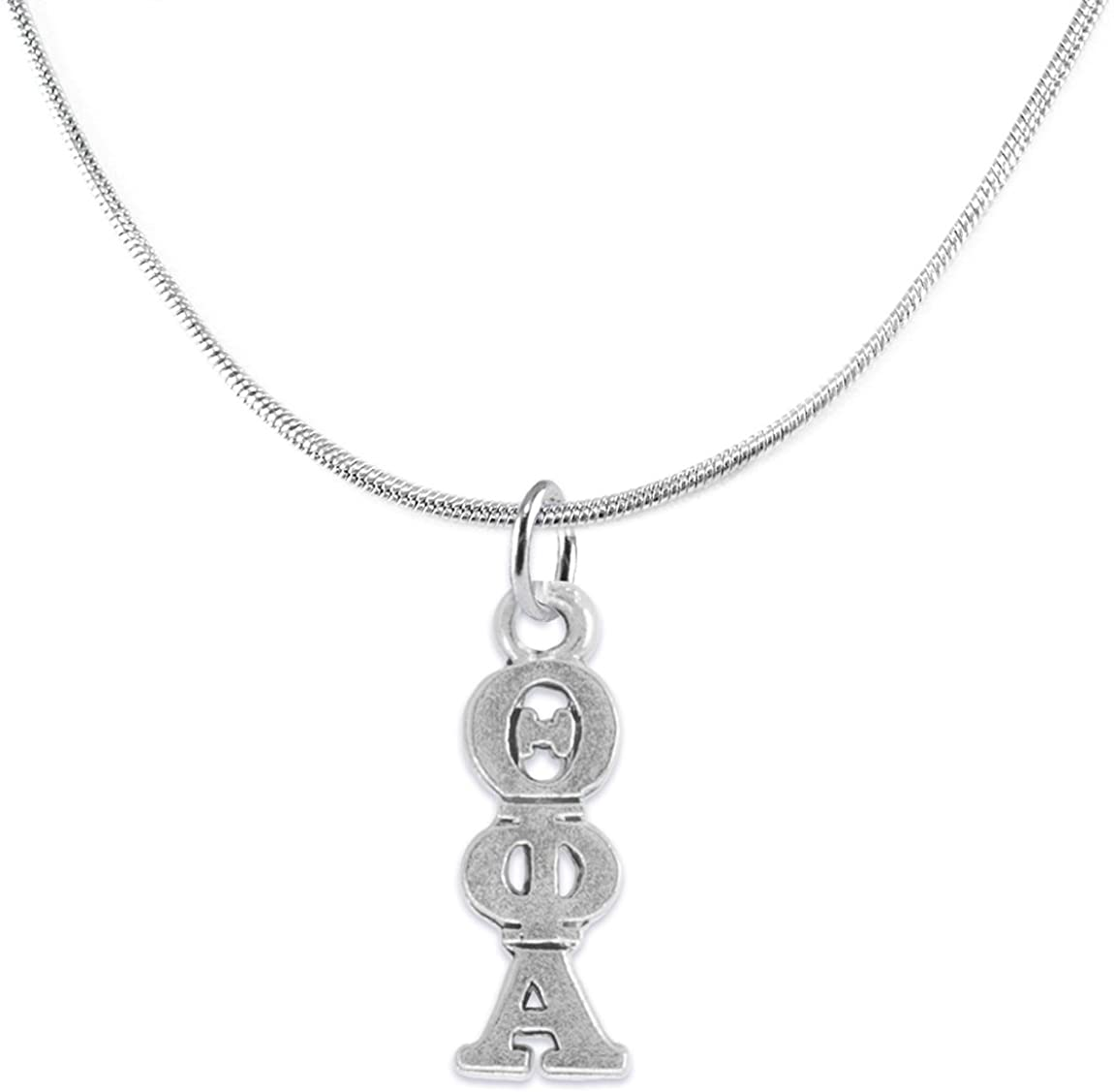 Theta Phi Alpha-Licensed Sorority Jewelry Manufacturer, Adjustable, Snake Chain, Hypoallergenic Safe Necklace-No Nickel, No Lead, And No Poisonous Cadmium