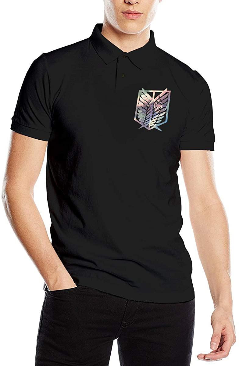 Attack On Titan Men's Comfort Premium Polo Shirt Short Sleeve T-Shirt