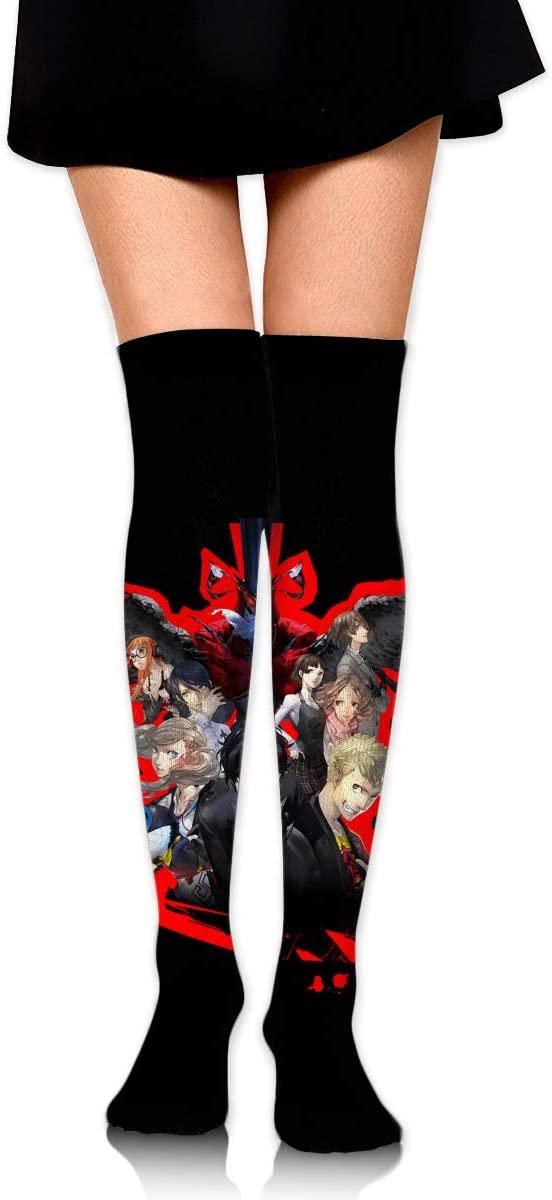 NarcNton Persona 5 Mens WomensHigh Socks Stockings Funky Tube Socks Novelty Crew Athletic Socks Comfortable Long Socks