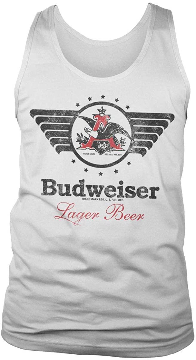 Budweiser Officially Licensed Vintage Eagle Tank Top Vest (White)