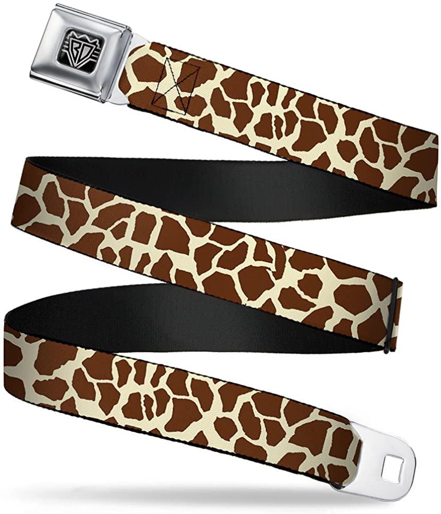 Buckle-Down Seatbelt Belt - Giraffe Spots2 Cream/Brown - 1.0