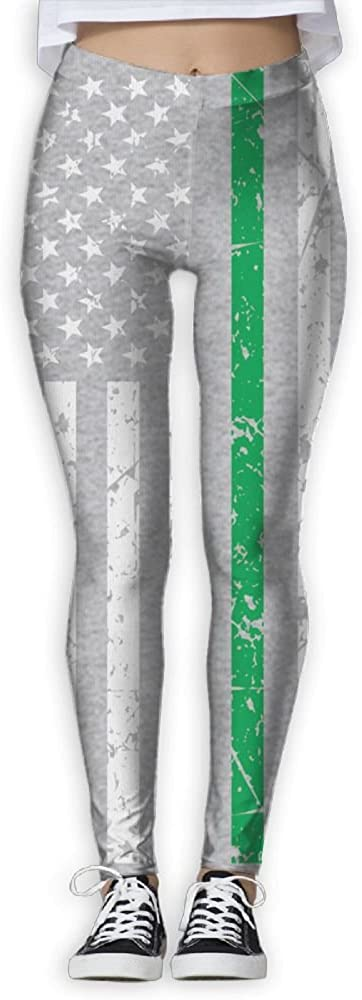 LICAI Women's Skinny Pants For Yoga American Flag Irish Printed Workout Capris Leggings