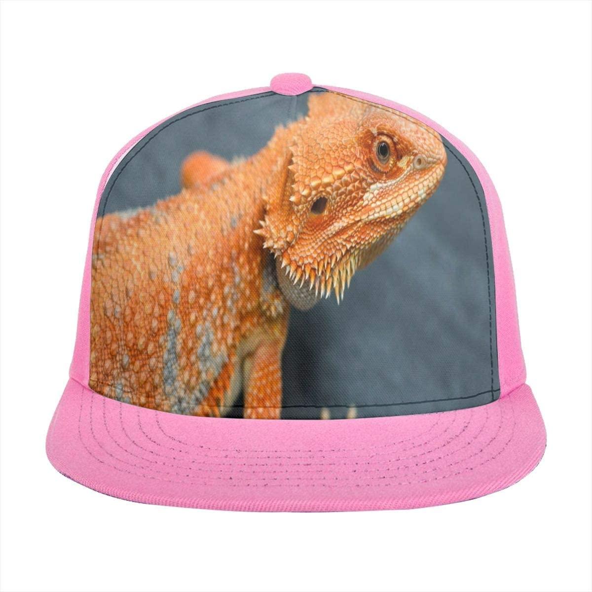 SLHFPX Baseball Cap Red Orange Breaded Dragon Sun Visor Flat Brim Hats Cap for Women Men Summer