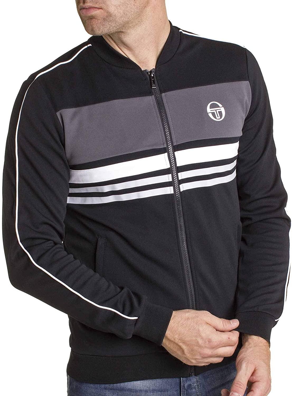 Sergio Tacchini Mens Track Top ISHEN Retro Adult Casual Track Jacket Black 37689 177 New