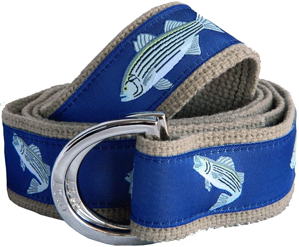 No27 Big Boy Striped Bass Nautical Belt Canvas Belt