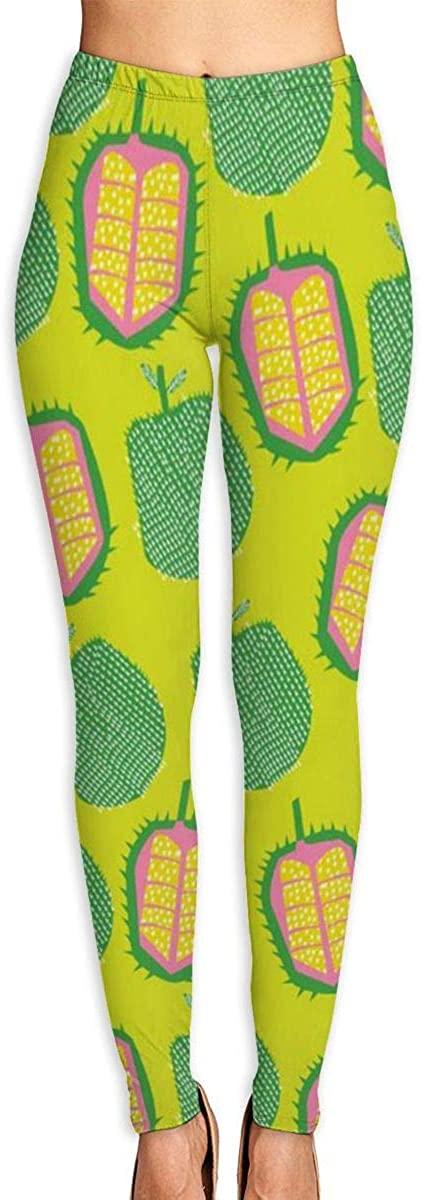 Nzioap0 Women's Soft Lightweight Durian Leggings High Waist Yoga Pants Training Leggings