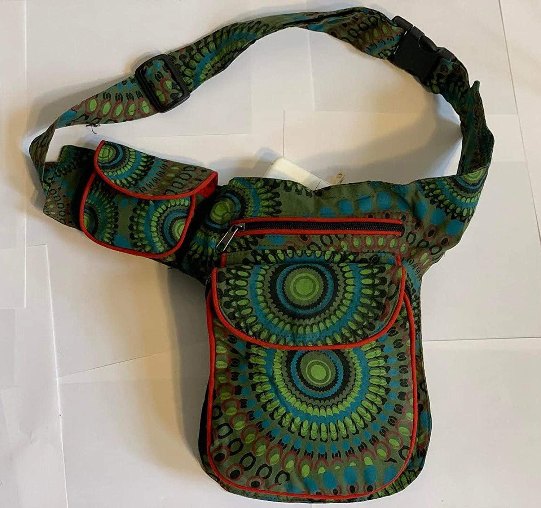Himalayan Fashion Handmade Cotton Fanny Pack Money Belt (Green)