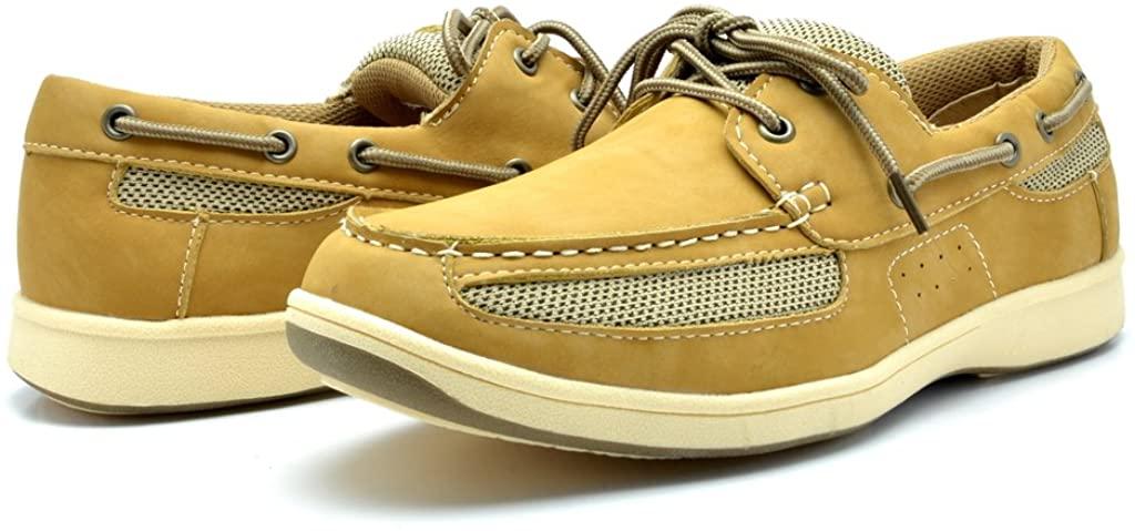 kingshow Mens M1525 Boat Shoes